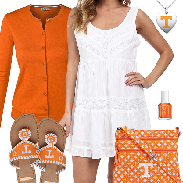Tennessee Volunteers Summer Dress Outfit