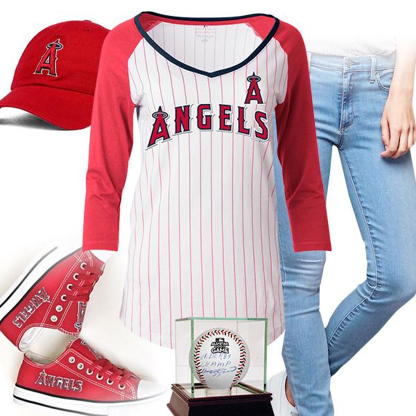 be1ea22c6 Cute Los Angeles Angels Baseball Tee