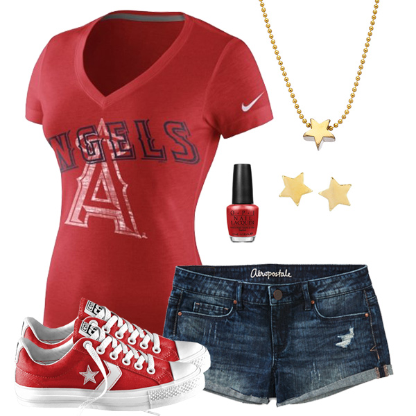Los Angeles Angels Outfit With Converse