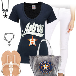 Astros, White, And Blue