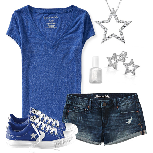 Cute Tee & Jean Shorts Outfit