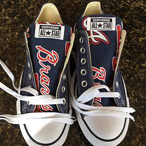 Atlanta Braves Designed Sneakers