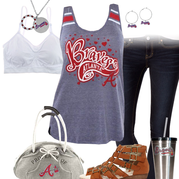 Atlanta Braves Tank Top Outfit