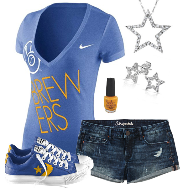Milwaukee Brewers Outfit With Converse