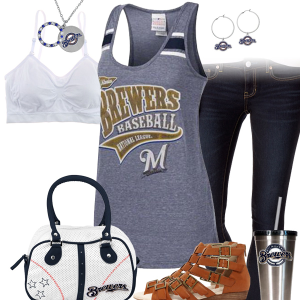 Milwaukee Brewers Tank Top Outfit