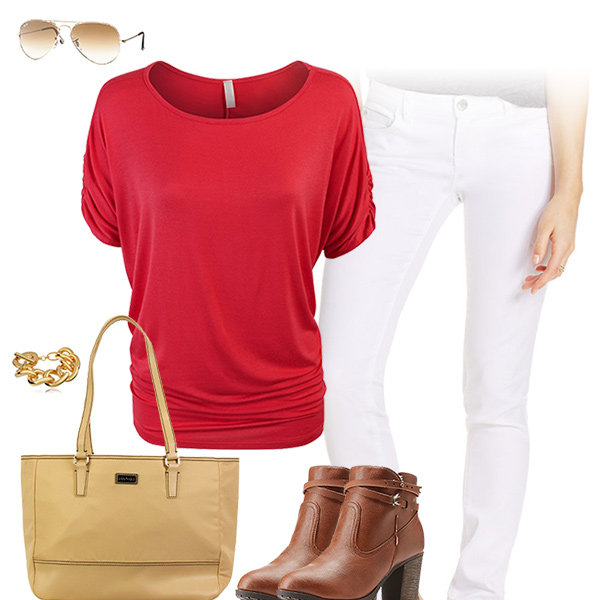 Chic Red Top Outfit