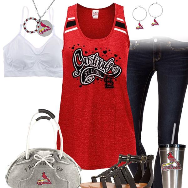 St Louis Cardinals Tank Top Outfit