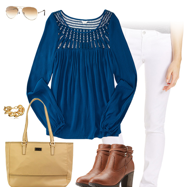 Chic Blue Top Outfit