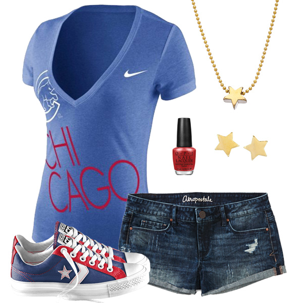 Chicago Cubs Outfit With Converse