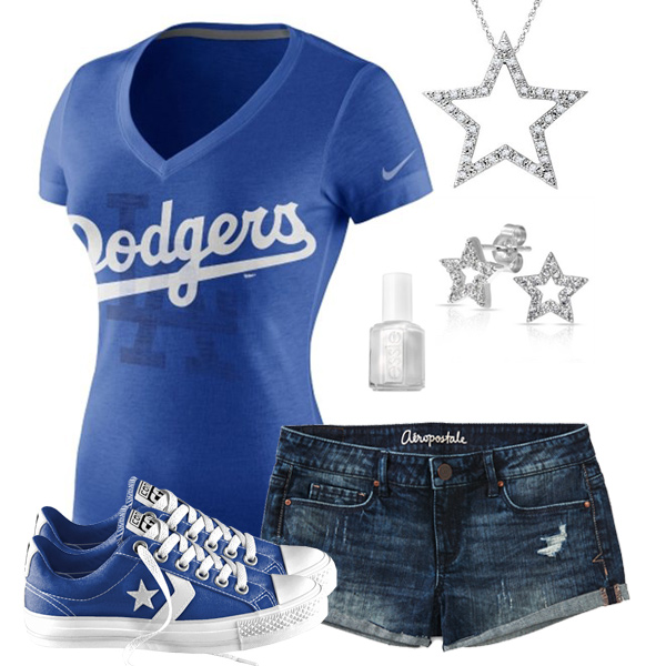 Los Angeles Dodgers Outfit With Converse