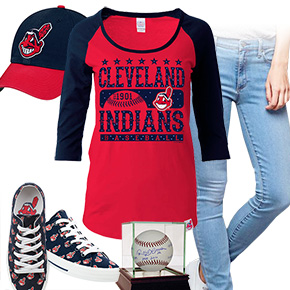 Cleveland Indians Ball Girl