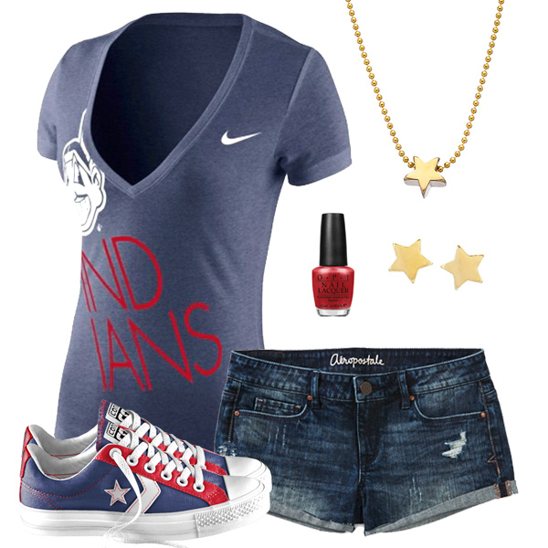 Cleveland Indians Outfit With Converse