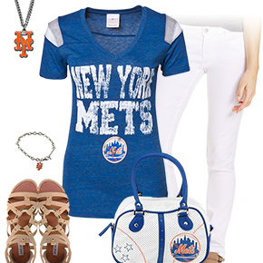 Mets, White And Blue