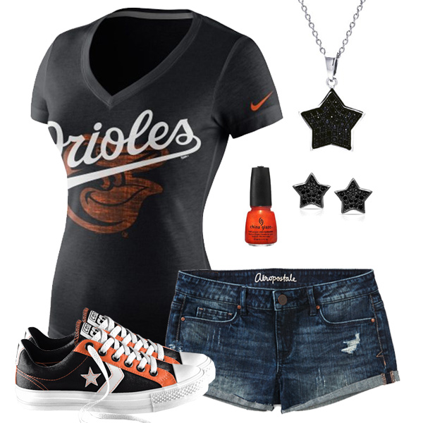 Baltimore Orioles Outfit With Converse