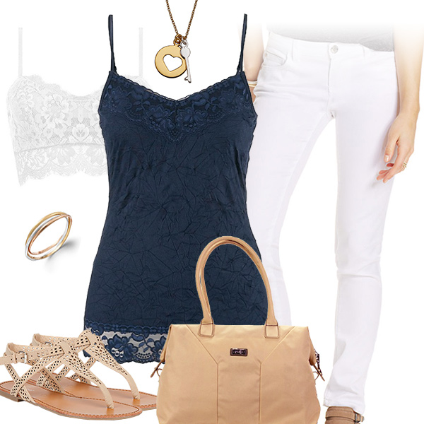 Chic Blue Tank Top Outfit