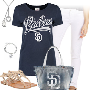 Padres, White, And Blue