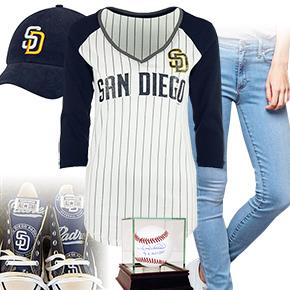 San Diego Padres Ball Girl