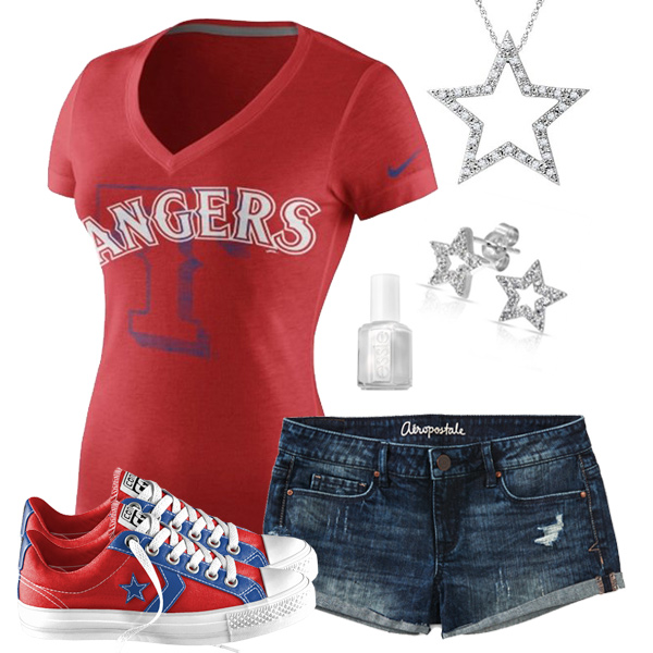 Texas Rangers Outfit With Converse