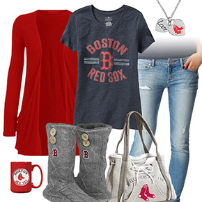 Casual Red Sox Outfit