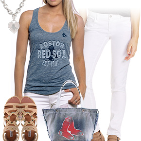 Red Sox, White And Blue