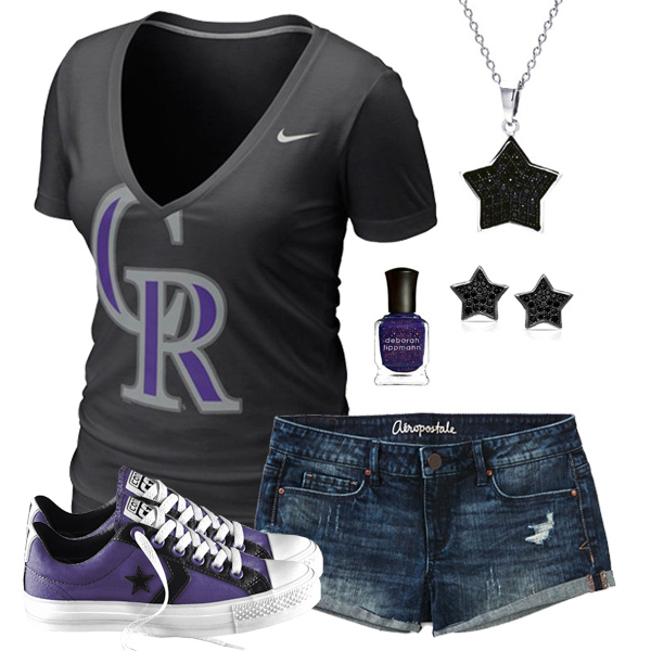 Colorado Rockies Outfit With Converse