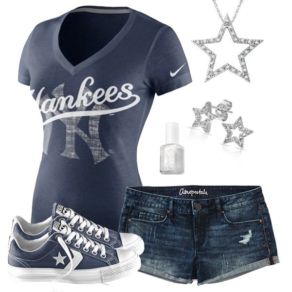 New York Yankees Outfit With Converse
