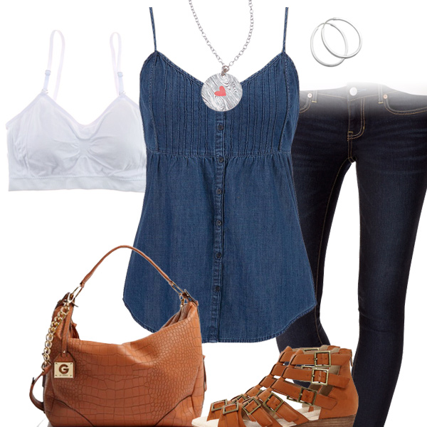 Cute Tank Top & Jeggings Outfit