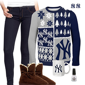 New York Yankees Ugly Sweater Love