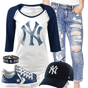 New York Yankees Cute Boyfriend Style