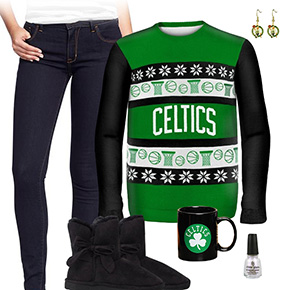 Boston Celtics Ugly Sweater Love