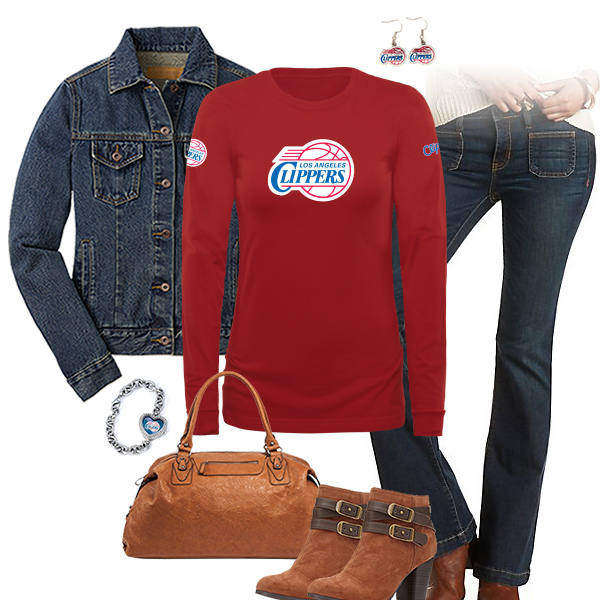 Los Angeles Clippers Flare Jeans Outfit