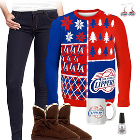 Los Angeles Clippers Ugly Sweater Love