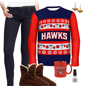 Atlanta Hawks Ugly Sweater Love