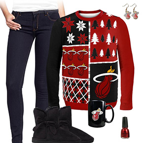 Miami Heat Ugly Sweater Love