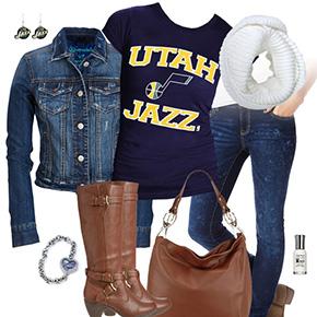 Utah Jazz Blue Jean Baby