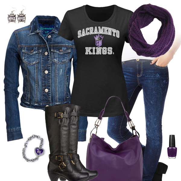 Sacramento Kings Jean Jacket Outfit