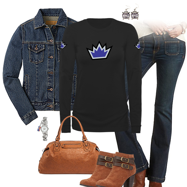 Sacramento Kings Flare Jeans Outfit