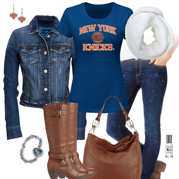 New York Knicks Jean Jacket Outfit