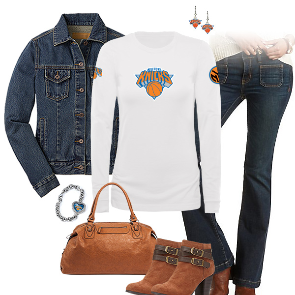 New York Knicks Flare Jeans Outfit