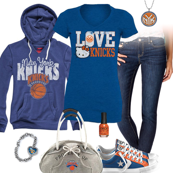 New York Knicks Hello Kitty Tshirt