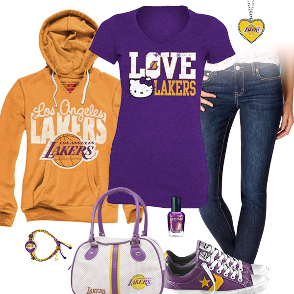 Los Angeles Lakers Hello Kitty Tshirt