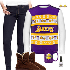 Los Angeles Lakers Ugly Sweater Love