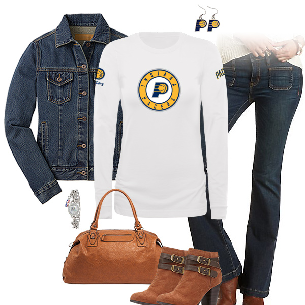 Indiana Pacers Flare Jeans Outfit