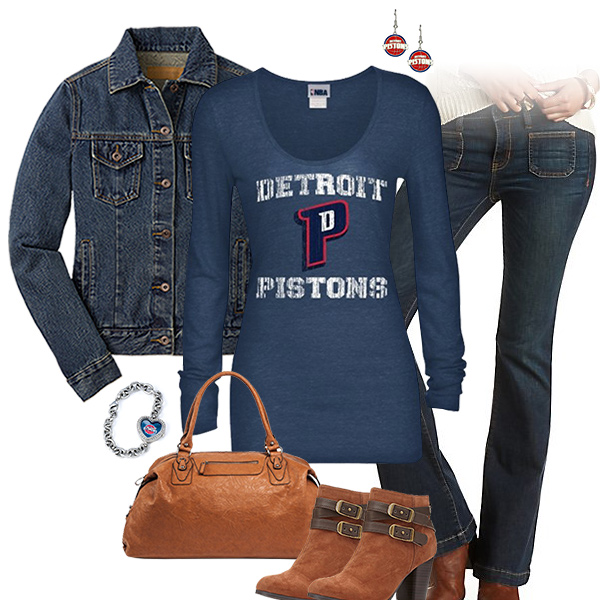 Detroit Pistons Flare Jeans Outfit