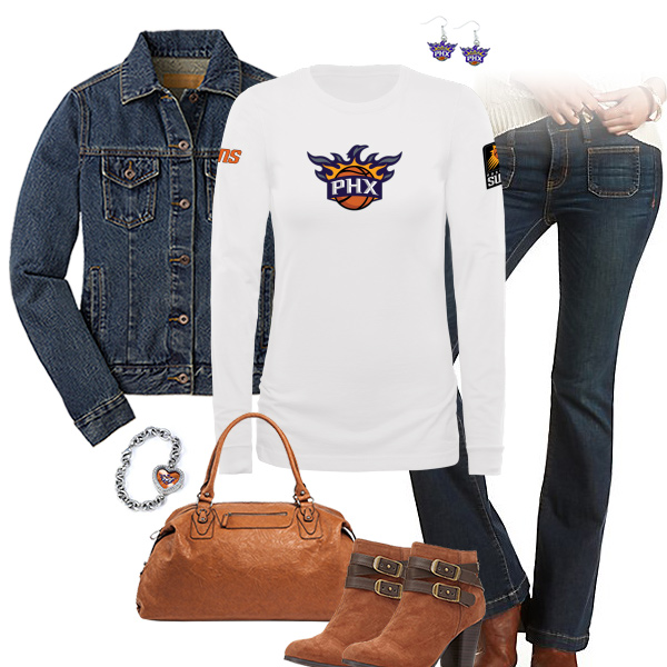 Phoenix Suns Flare Jeans Outfit