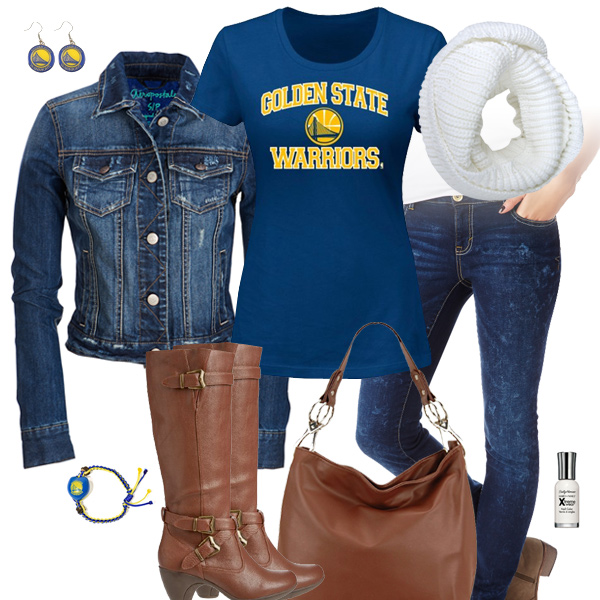 Golden State Warriors Jean Jacket Outfit