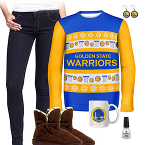Golden State Warriors Ugly Sweater Love