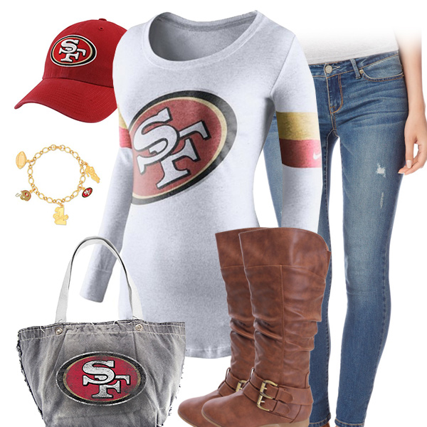 San Francisco 49ers Inspired Outfit