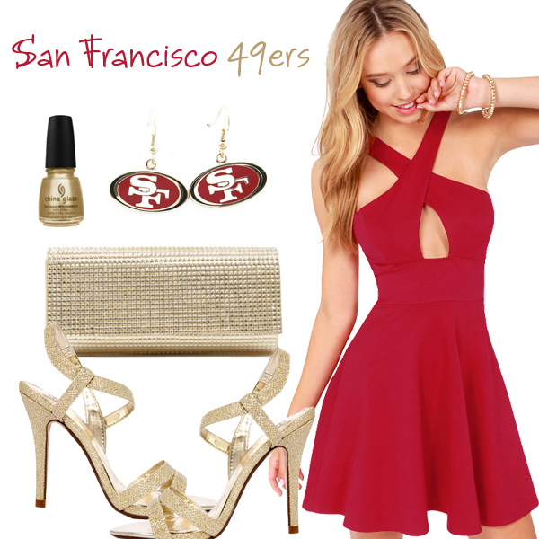 San Francisco 49ers Inspired Date Look