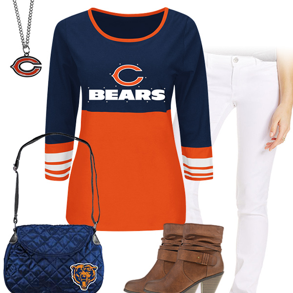 size 40 34df1 73b5e Chicago Bears Long Sleeve Tee, Chicago Bears Kickoff Outfit